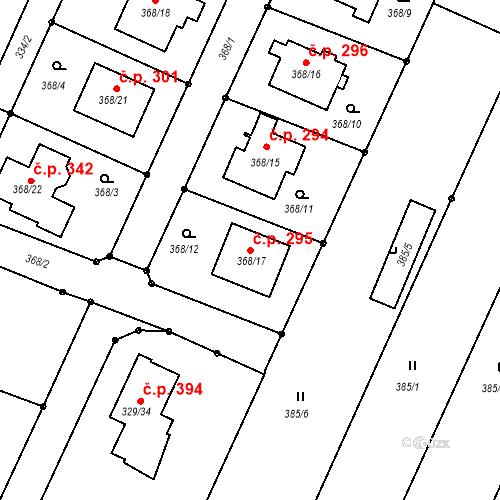 Katastrální mapa Stavební objekt Darkovice 295, Darkovice
