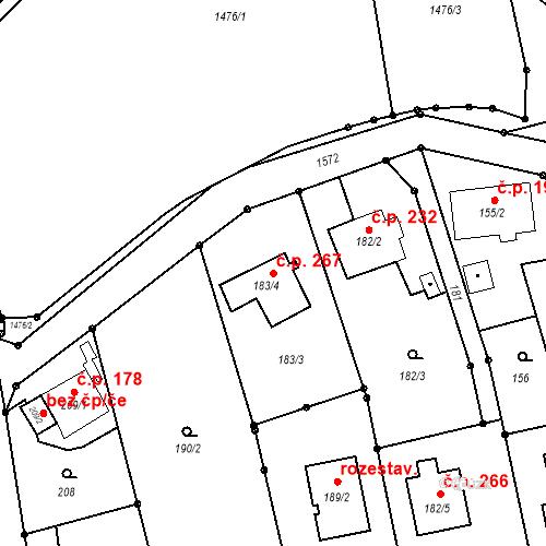 Katastrální mapa Stavební objekt Darkovice 267, Darkovice