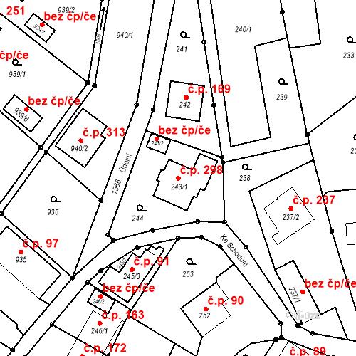 Katastrální mapa Stavební objekt Darkovice 298, Darkovice