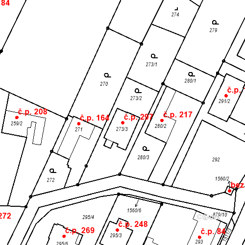 Katastrální mapa Stavební objekt Darkovice 297, Darkovice