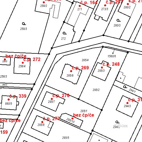 Katastrální mapa Stavební objekt Darkovice 269, Darkovice