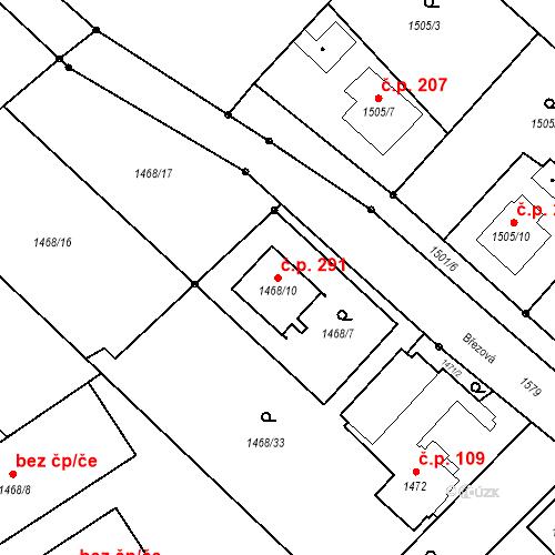 Katastrální mapa Stavební objekt Darkovice 291, Darkovice