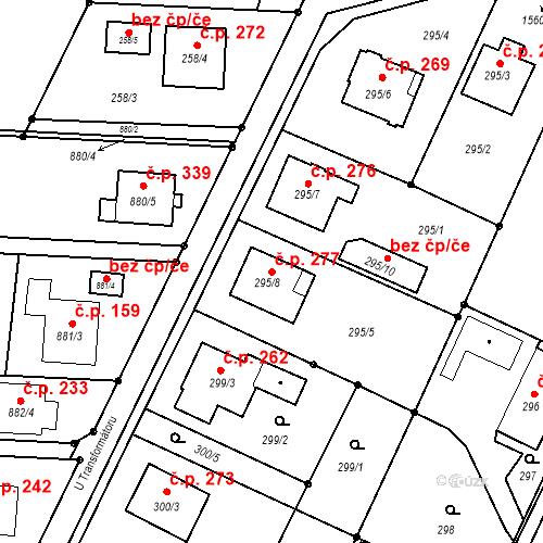 Katastrální mapa Stavební objekt Darkovice 277, Darkovice