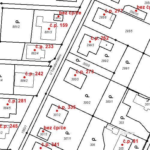 Katastrální mapa Stavební objekt Darkovice 273, Darkovice