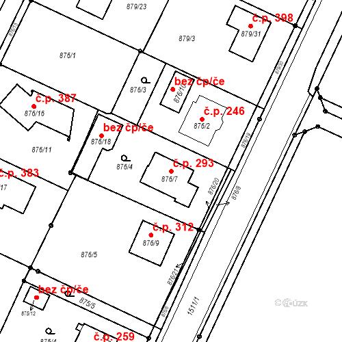 Katastrální mapa Stavební objekt Darkovice 293, Darkovice