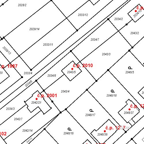 Katastrální mapa Stavební objekt Hlučín 2010, Hlučín
