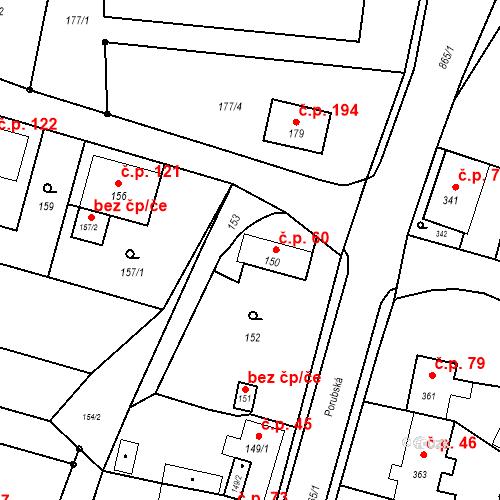 Katastrální mapa Stavební objekt Děhylov 60, Děhylov
