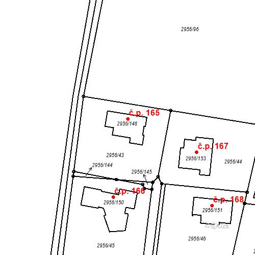 Katastrální mapa Stavební objekt Václavovice 165, Klimkovice