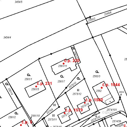 Katastrální mapa Stavební objekt Kopřivnice 230, Kopřivnice