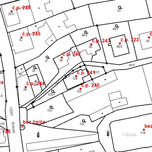 Katastrální mapa Stavební objekt Bolatice 241, Bolatice