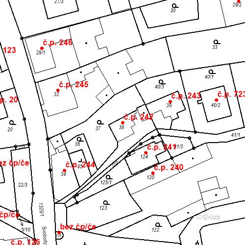 Katastrální mapa Stavební objekt Bolatice 242, Bolatice
