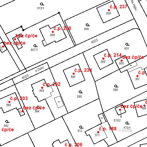 Katastrální mapa Stavební objekt Smolkov 234, Háj ve Slezsku