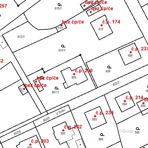 Katastrální mapa Stavební objekt Smolkov 230, Háj ve Slezsku