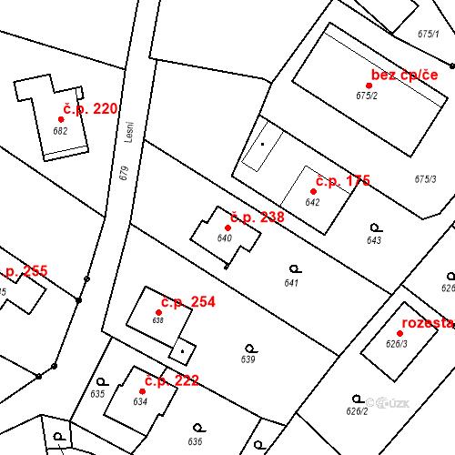 Katastrální mapa Stavební objekt Smolkov 238, Háj ve Slezsku