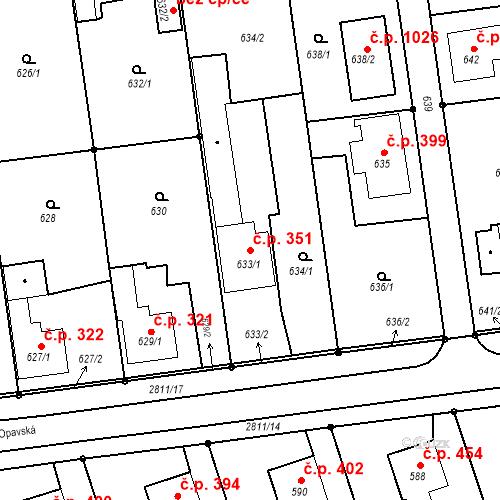Katastrální mapa Stavební objekt Bolatice 351, Bolatice