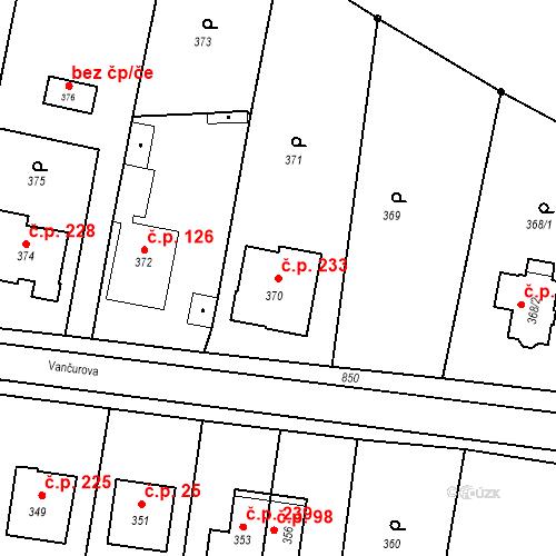 Katastrální mapa Stavební objekt Smolkov 233, Háj ve Slezsku