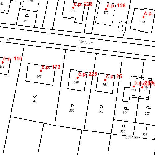 Katastrální mapa Stavební objekt Smolkov 225, Háj ve Slezsku