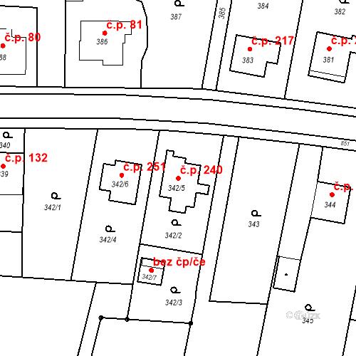 Katastrální mapa Stavební objekt Smolkov 240, Háj ve Slezsku