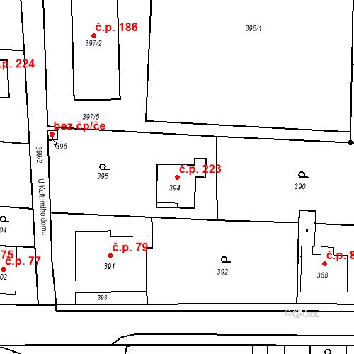 Katastrální mapa Stavební objekt Smolkov 223, Háj ve Slezsku