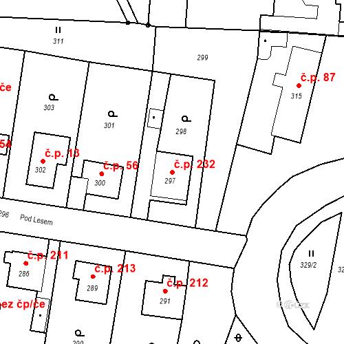 Katastrální mapa Stavební objekt Smolkov 232, Háj ve Slezsku