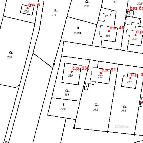 Katastrální mapa Stavební objekt Smolkov 236, Háj ve Slezsku