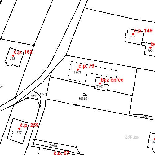 Katastrální mapa Stavební objekt Budišovice 79, Budišovice