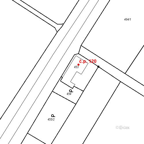 Katastrální mapa Stavební objekt Hněvošice 120, Hněvošice