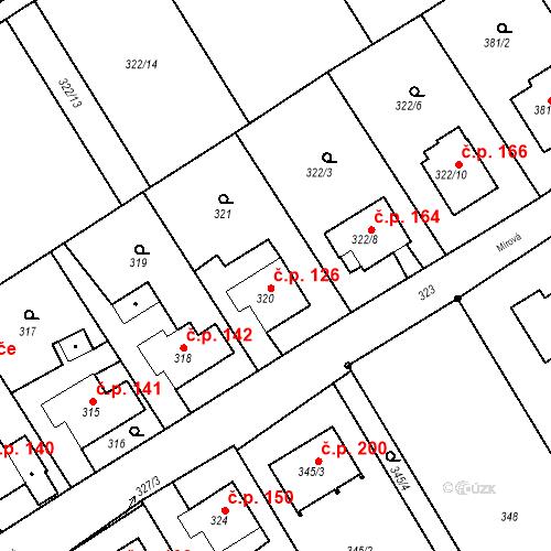 Katastrální mapa Stavební objekt Hněvošice 126, Hněvošice