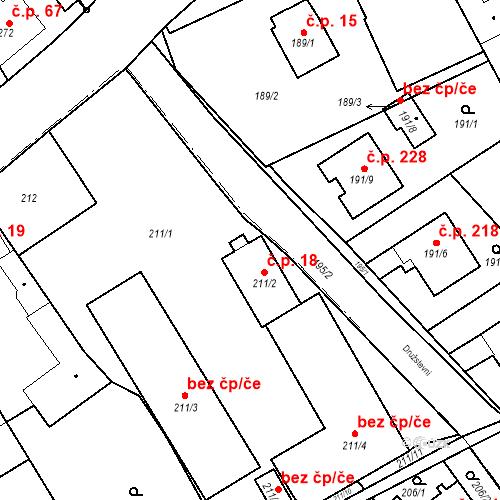 Katastrální mapa Stavební objekt Hněvošice 18, Hněvošice