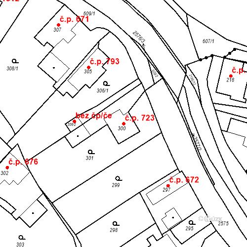 Katastrální mapa Stavební objekt Bílovec 723, Bílovec