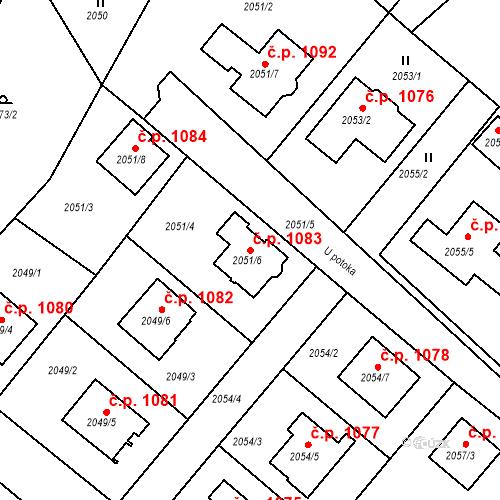Katastrální mapa Stavební objekt Bílovec 1083, Bílovec