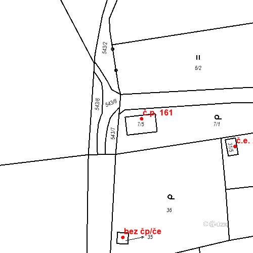 Katastrální mapa Stavební objekt Bludovice 161, Nový Jičín