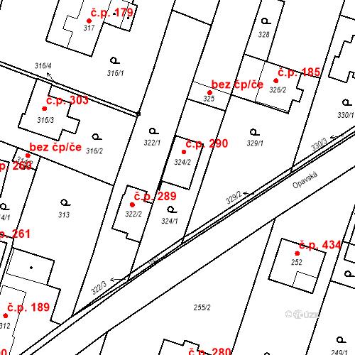 Katastrální mapa Stavební objekt Oldřišov 290, Oldřišov