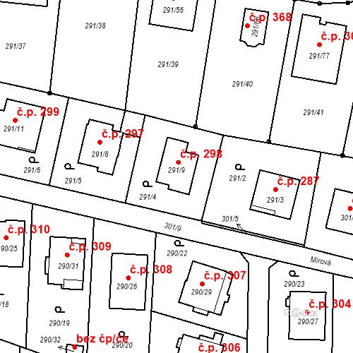 Katastrální mapa Stavební objekt Oldřišov 298, Oldřišov