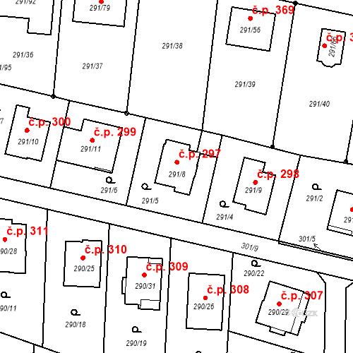 Katastrální mapa Stavební objekt Oldřišov 297, Oldřišov