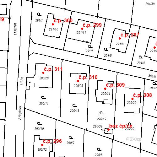 Katastrální mapa Stavební objekt Oldřišov 310, Oldřišov
