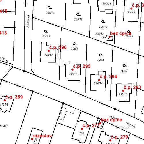 Katastrální mapa Stavební objekt Oldřišov 295, Oldřišov