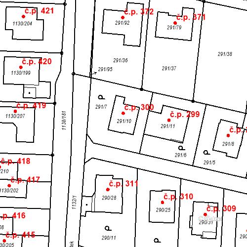 Katastrální mapa Stavební objekt Oldřišov 300, Oldřišov
