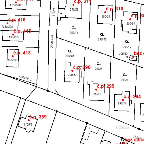 Katastrální mapa Stavební objekt Oldřišov 296, Oldřišov