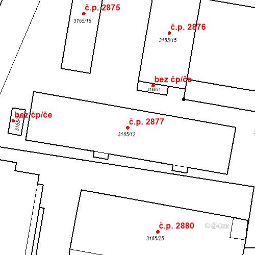 Katastrální mapa Stavební objekt Předměstí 2877, Opava