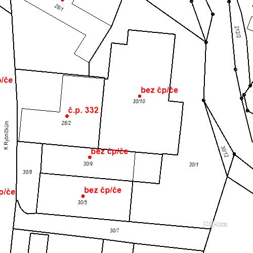 Katastrální mapa Stavební objekt Otice 335, Otice