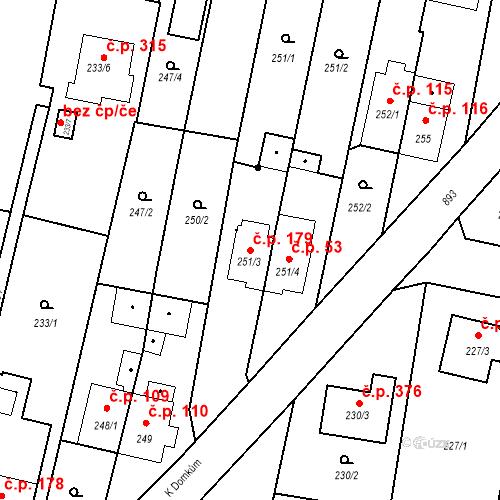 Katastrální mapa Stavební objekt Otice 179, Otice