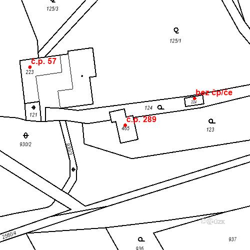 Katastrální mapa Stavební objekt Bratřejov 289, Bratřejov