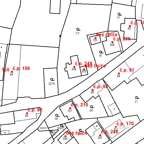 Katastrální mapa Stavební objekt Brumovice 248, Brumovice