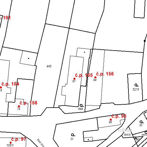 Katastrální mapa Stavební objekt Brumovice 155, Brumovice