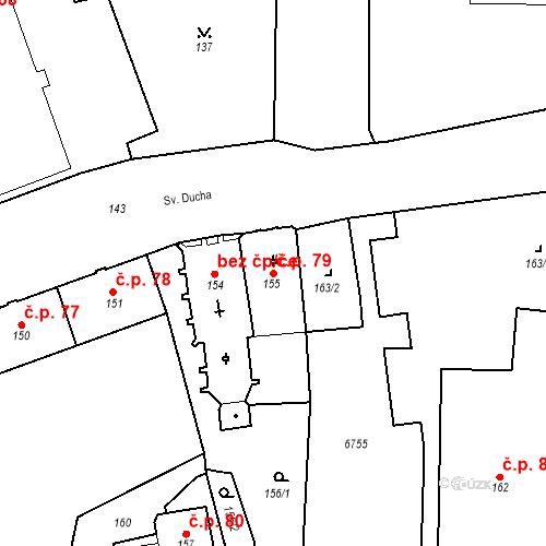 Katastrální mapa Stavební objekt Pod Bezručovým vrchem 79, Krnov