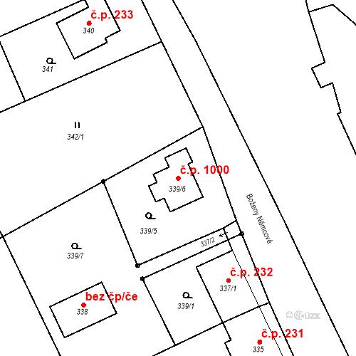 Katastrální mapa Stavební objekt Vítkov 1000, Vítkov