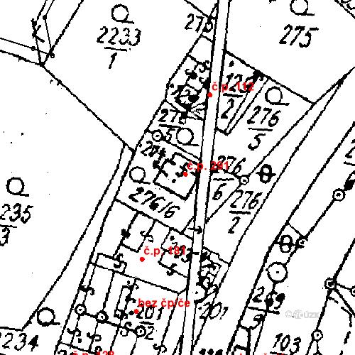 Katastrální mapa Stavební objekt Střítež nad Ludinou 291, Střítež nad Ludinou