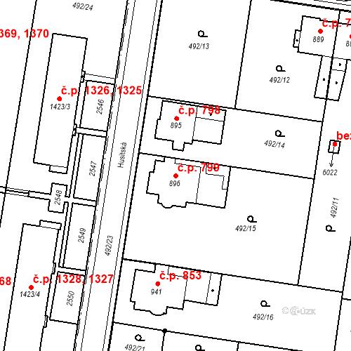 Katastrální mapa Stavební objekt Hranice I-Město 799, Hranice
