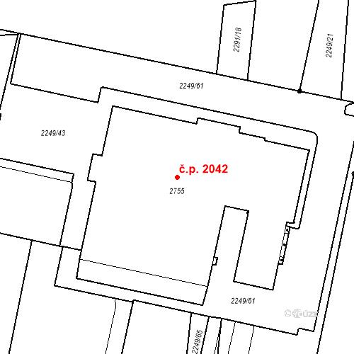 Katastrální mapa Stavební objekt Hranice I-Město 2042, Hranice